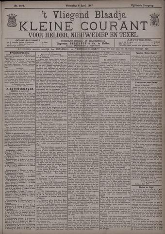 Vliegend blaadje : nieuws- en advertentiebode voor Den Helder 1887-04-06