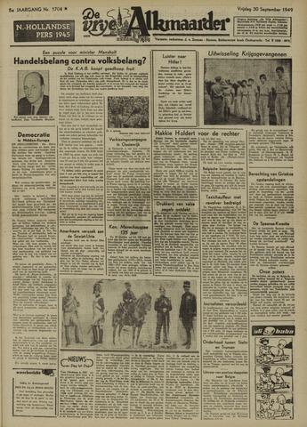 De Vrije Alkmaarder 1949-09-30
