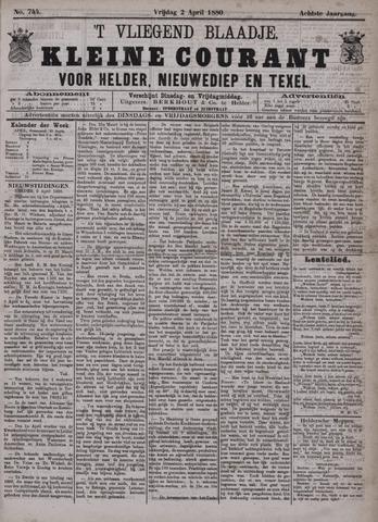Vliegend blaadje : nieuws- en advertentiebode voor Den Helder 1880-04-02