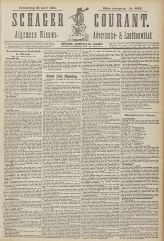 Schager Courant 1920-04-22