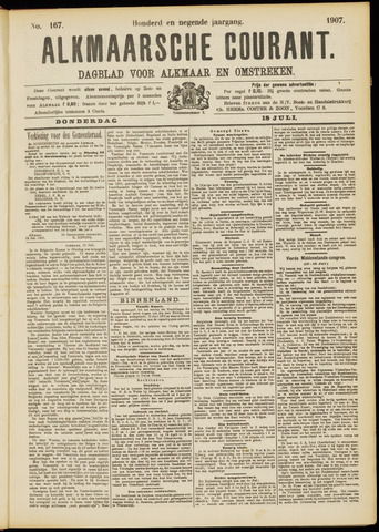 Alkmaarsche Courant 1907-07-18