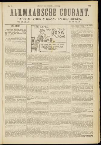 Alkmaarsche Courant 1914-01-14