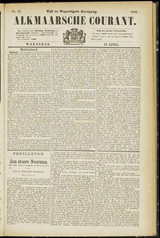 Alkmaarsche Courant 1893-04-19