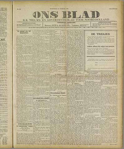 Ons Blad : katholiek nieuwsblad voor N-H 1921-02-24