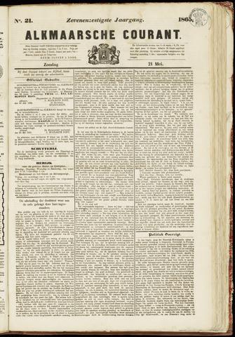 Alkmaarsche Courant 1865-05-21