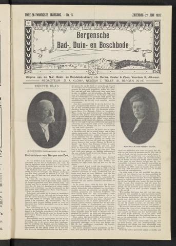 Bergensche bad-, duin- en boschbode 1931-06-27