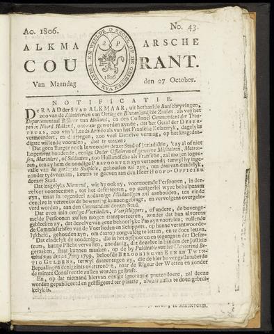 Alkmaarsche Courant 1806-10-27
