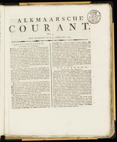 Alkmaarsche Courant 1815-01-23