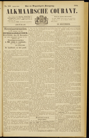 Alkmaarsche Courant 1894-12-23