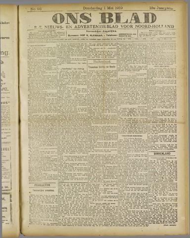 Ons Blad : katholiek nieuwsblad voor N-H 1919-05-01