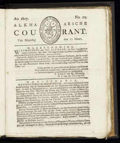 Alkmaarsche Courant 1807-03-23
