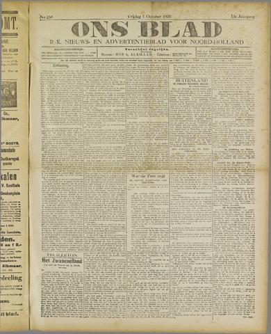 Ons Blad : katholiek nieuwsblad voor N-H 1920-10-01