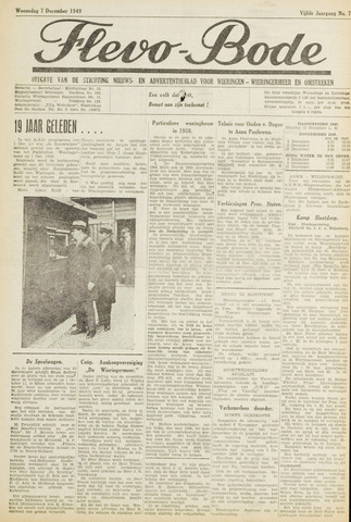 Flevo-bode: nieuwsblad voor Wieringen-Wieringermeer 1949-12-07