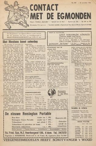 Contact met de Egmonden 1962-11-22