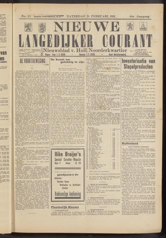 Nieuwe Langedijker Courant 1931-02-21