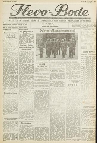 Flevo-bode: nieuwsblad voor Wieringen-Wieringermeer 1948-07-31