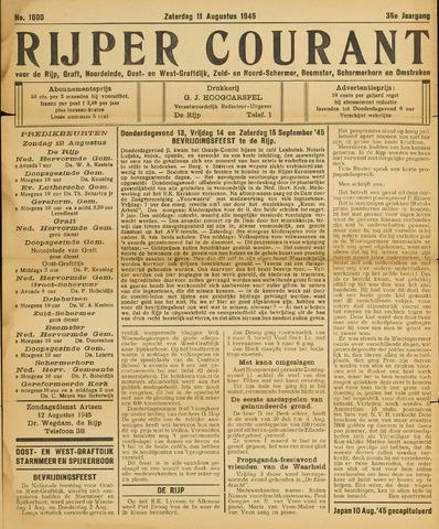 Rijper Courant 1945-08-11