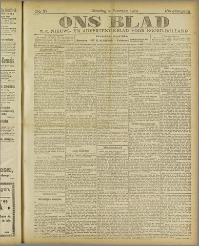 Ons Blad : katholiek nieuwsblad voor N-H 1919-02-04