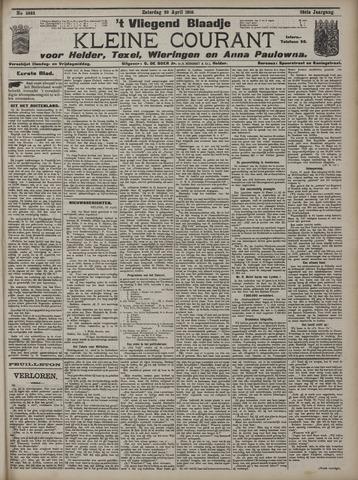 Vliegend blaadje : nieuws- en advertentiebode voor Den Helder 1910-04-30
