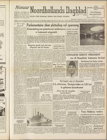Nieuw Noordhollandsch Dagblad : voor Alkmaar en omgeving 1949-12-17