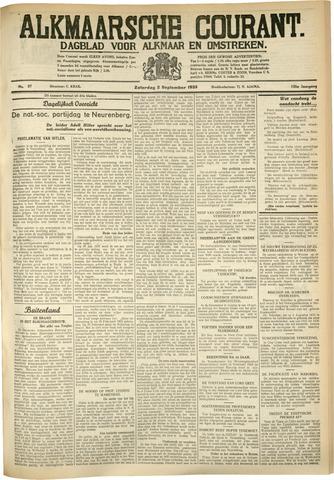 Alkmaarsche Courant 1933-09-02
