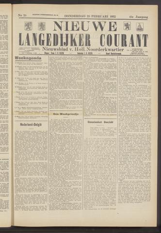 Nieuwe Langedijker Courant 1932-02-25