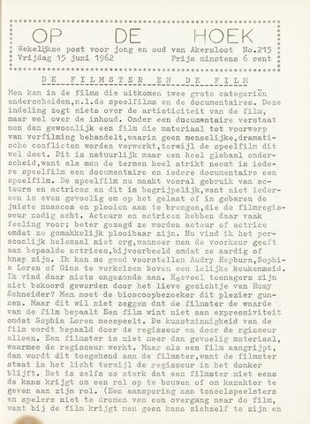Op De Hoek, weekblad voor Akersloot 1962-06-15