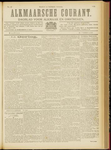 Alkmaarsche Courant 1918-02-25