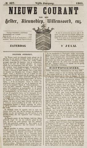 Nieuwe Courant van Den Helder 1865-07-01