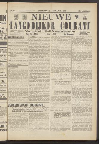 Nieuwe Langedijker Courant 1932-02-23