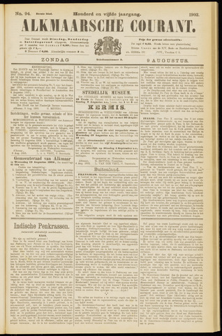 Alkmaarsche Courant 1903-08-09