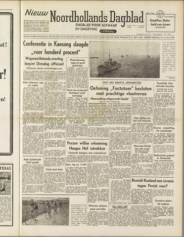 Nieuw Noordhollandsch Dagblad : voor Alkmaar en omgeving 1951-07-09