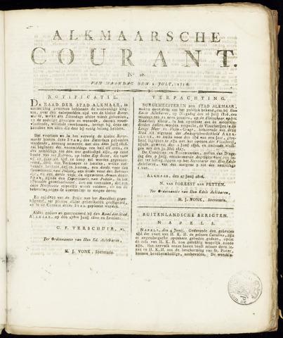 Alkmaarsche Courant 1816-07-01
