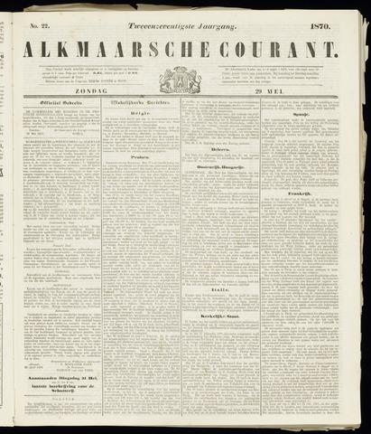 Alkmaarsche Courant 1870-05-29