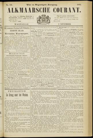 Alkmaarsche Courant 1892-11-02