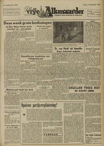 De Vrije Alkmaarder 1947-09-05