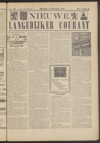 Nieuwe Langedijker Courant 1925-12-12