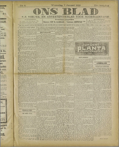 Ons Blad : katholiek nieuwsblad voor N-H 1920-01-07