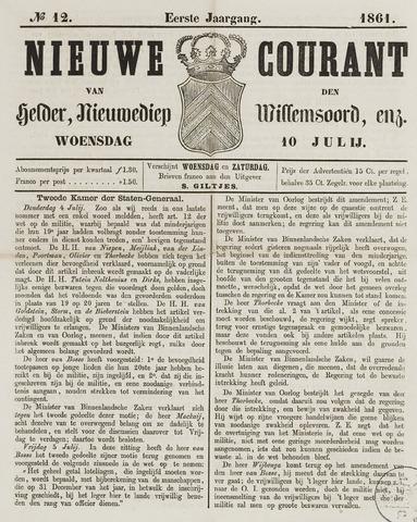 Nieuwe Courant van Den Helder 1861-07-10