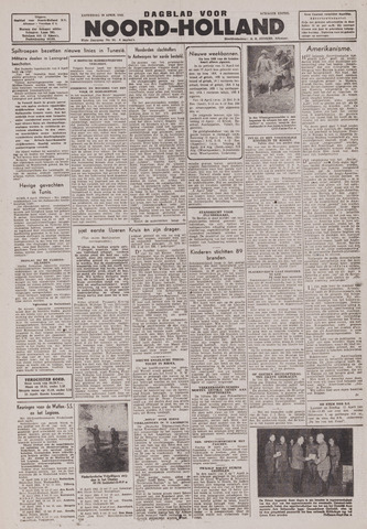 Dagblad Noord-Holland, Schager editie 1943-04-10