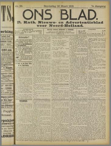 Ons Blad : katholiek nieuwsblad voor N-H 1913-03-20