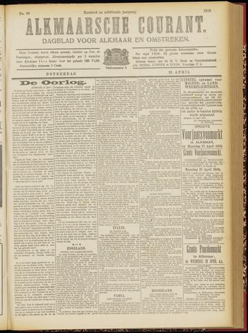 Alkmaarsche Courant 1916-04-13