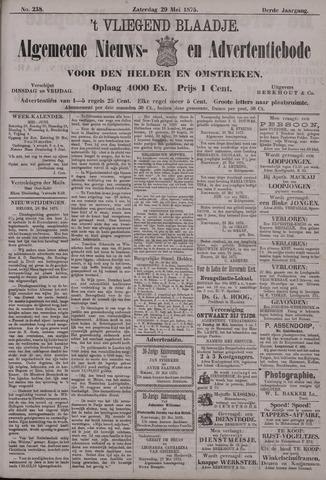 Vliegend blaadje : nieuws- en advertentiebode voor Den Helder 1875-05-29