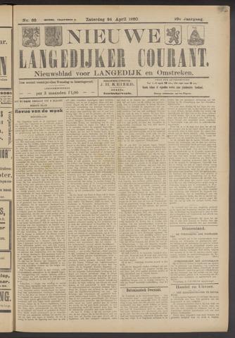 Nieuwe Langedijker Courant 1920-04-24