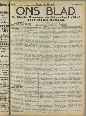Ons Blad : katholiek nieuwsblad voor N-H 1913-05-31
