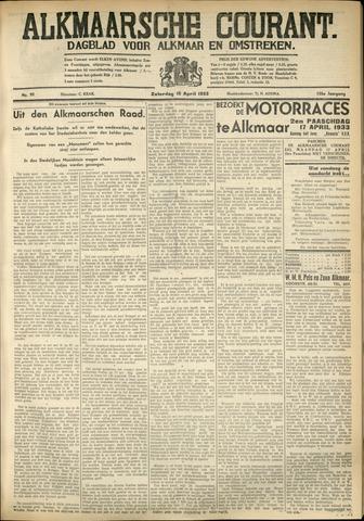 Alkmaarsche Courant 1933-04-15