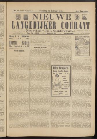 Nieuwe Langedijker Courant 1929-02-23