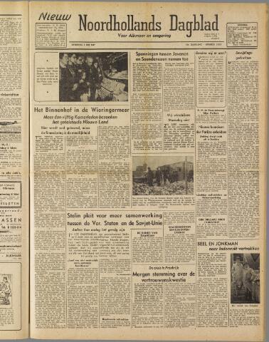 Nieuw Noordhollandsch Dagblad : voor Alkmaar en omgeving 1947-05-03