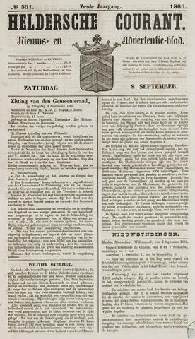Heldersche Courant 1866-09-08