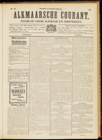 Alkmaarsche Courant 1911-04-07